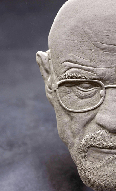 Alexandr And Serge Reznikov  'Walter White 7', created in 2020, Original Sculpture Mixed.
