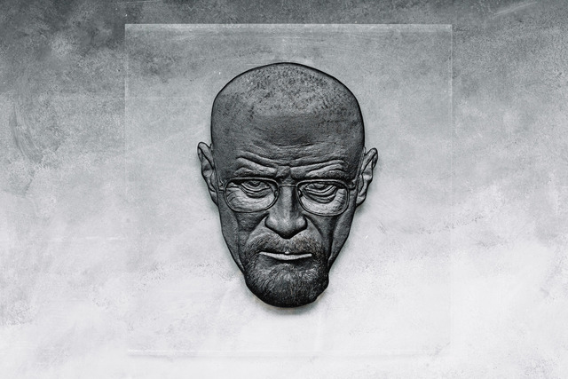 Alexandr And Serge Reznikov  'Walter White Is Black', created in 2019, Original Sculpture Mixed.