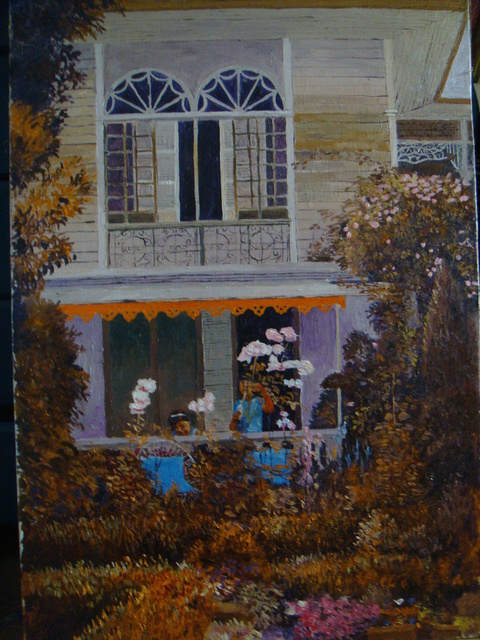Reynaldo Gatmaitan  'Old With Garden', created in 2011, Original Painting Oil.