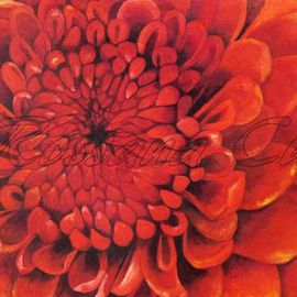 Rossana Currie: 'Crisantemo', 2011 Oil Painting, Floral.