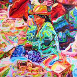 Rossana Currie: 'Potato Market', 2011 Oil Painting, Ethnic. Artist Description:  I love Indian markets with their glorious mix of colors and shapes   ...