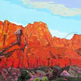 Rossana Currie Artwork Springville view, 2011 Oil Painting, Southwestern