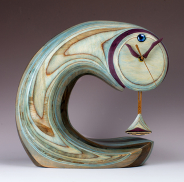 Robert Hargrave: Comet Clock Supreme, 2014 Wood Sculpture