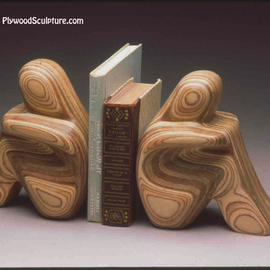 Robert Hargrave: 'Figurative Bookends', 2015 Wood Sculpture, Home. Artist Description:  Bookends  ...