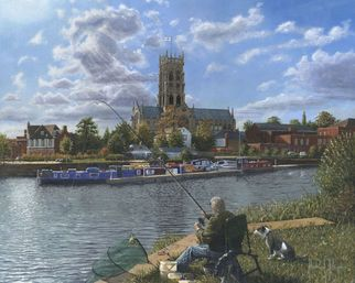 Artist: Richard Harpum - Title: Doncaster Minster - Medium: Acrylic Painting - Year: 2012