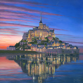 Richard Harpum Artwork Mont Saint Michel Soir, 2012 Acrylic Painting, Landscape