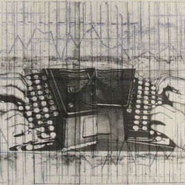 Rachel E Heberling Artwork Errors Are Prevented Instead of Being Corrected, 2009 Lithograph, Technology