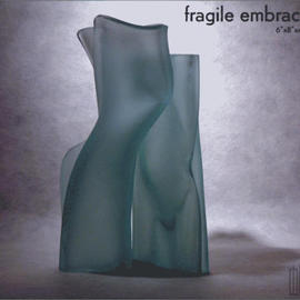 R H Jannini Iv Artwork Fragile Embrace, 2003 Glass, Abstract