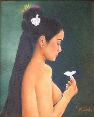 Yuli Rianto Artwork GIrl with Flower, 2005 Oil Painting,
