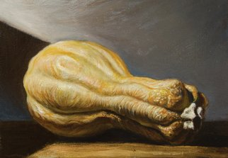 Riccardo Rossati: 'Still Life', 2014 Oil Painting, Figurative.   Still life of Pumpkin.  ...