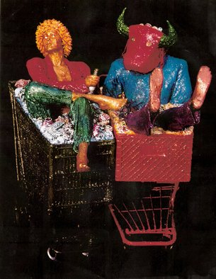 Richard Hinger: 'Coupled ShopAround', 1999 Mixed Media Sculpture, World Culture. Artist Description:  ShopAround 1999 ...