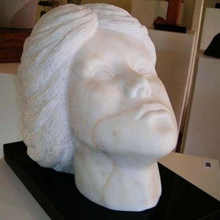 Richard Kloester: 'Stella', 2010 Stone Sculpture, Portrait. Artist Description: Stella is carved from Chilligoe Marble which is found in North Queensland, Australia. Stella is mounted on a black granite base ....