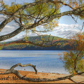 Richard Montemurro: 'Autumn at Round Pond Reservoir', 2008 Other Photography, Landscape. Artist Description:  Digital HDR Photograph of Round Pond Reservoir, ...