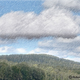 Richard Montemurro: 'CLOUDS', 2008 Other Photography, Landscape. Artist Description: The Clouds are crying over a mountain top.  A digital photograph manipulated in Photoshop CS3.  ...