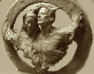 Richard Becker: 'unitled', 2003 Bronze Sculpture, Figurative. Jan 2003 shown in progress. I wanted to capture the wonderful journey thru life with a sole- mate, as a couple. The love, comfort, companionship, the friendship. ...