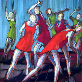 Red And Green Dancing Girls By Ric Hall And Ron Schmitt