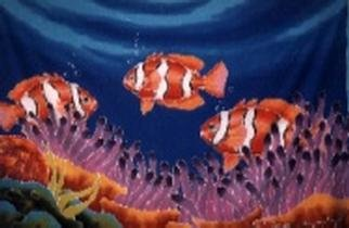 Rikki Power: 'Clowns on Tioman', 2001 Other Painting, Fish. The beautiful and precise coloured Clown Fish. ...