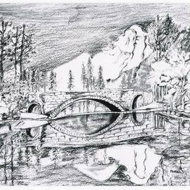 Ritu Maheshwari Artwork REFLECTION OF LIFE , 2015 Charcoal Drawing, Landscape