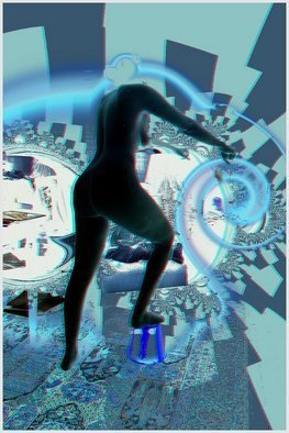 Philippe Rivrain: 'Leandra', 2010 Digital Art, Psychedelic.          Chaotic world         ...