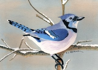 Artist: Ralph Patrick - Title: Blue Jay - Medium: Watercolor - Year: 2011
