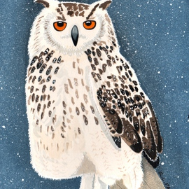 Ralph Patrick Artwork Snowy Owl, 2011 Watercolor, Birds