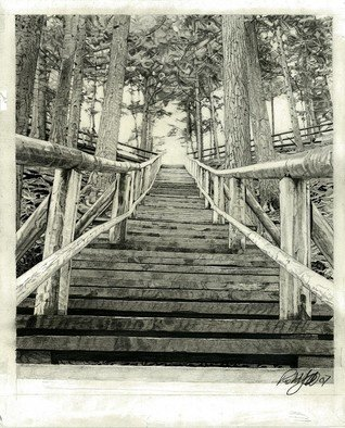 Pencil Drawing by Robb Scott titled: Jacobs Ladder, created in 2007