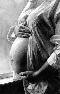 Pencil Drawing by Robb Scott titled: The Miracle, 2007