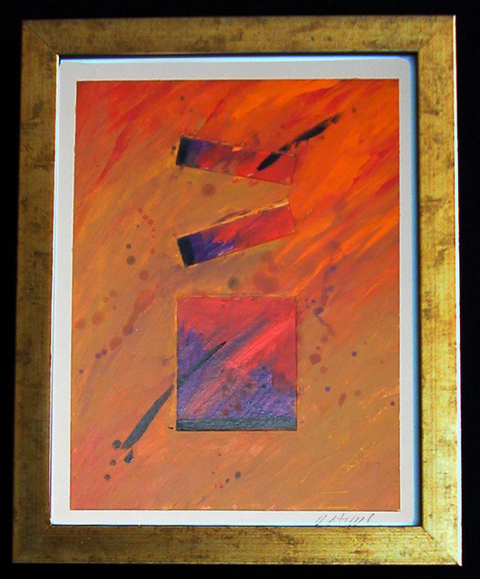 Robert Davis  'Beams', created in 2002, Original Painting Acrylic.