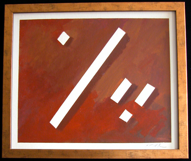 Robert Davis  'Looking', created in 1979, Original Painting Acrylic.