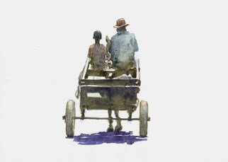Roberto Echeverria: 'Charriot', 2015 Watercolor, Transportation. Artist Description:        Watercolor on paper       ...