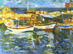 Artist: Robert Nizamov, title: Boats, 2009, Painting Oil