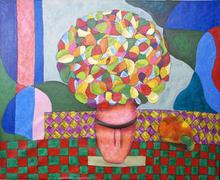 - artwork Vase_of_flowers-1361751766.jpg - 2012, Painting Acrylic, Figurative
