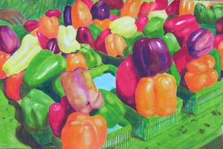 Artist: Robert P. Hedden - Title: Market Peppers - Medium: Watercolor - Year: 2009
