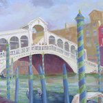 Venice Rialto Bridge By Robert P. Hedden