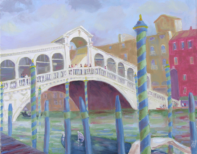 Robert P. Hedden  'Venice Rialto Bridge', created in 2011, Original Watercolor.