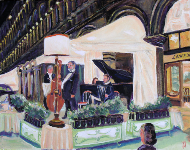 Robert P. Hedden  'Venice St Marks Sq Evenng Concert', created in 2011, Original Watercolor.