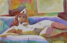 - artwork Waking_UP-1353584927.jpg - 2012, Watercolor, Figurative