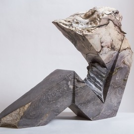 Robin Antar: 'alien', 2012 Marble Sculpture, Abstract Figurative. Artist Description: carved out of shania marble from Canada, figure, stone, ...