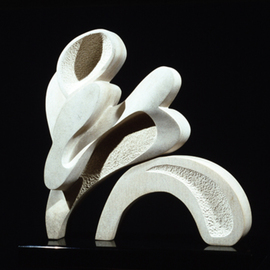 Robin Antar: 'body movement', 1997 Limestone Sculpture, Abstract Figurative. Artist Description: limestone, stone, abstract, figures, movement...