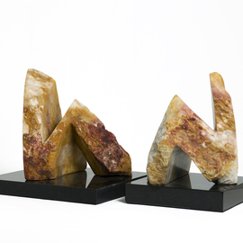 Robin Antar: 'conversations 1', 2009 Stone Sculpture, Abstract Figurative. Artist Description: conversations, figures, 2 figures, stone, art, abstract...