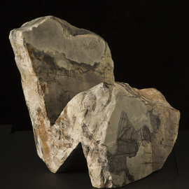 Robin Antar: 'the thinker 2', 2010 Stone Sculpture, Abstract Figurative. Artist Description: carved out to picasso marble, thinker, person, thinking, expression...
