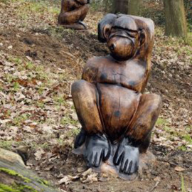 Robot Cossey: 'Monkeys', 2009 Wood Sculpture, Abstract Figurative. Artist Description:  Puzzled Monkey's ...