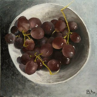 Vadim Amelichev: 'grapes', 2018 Oil Painting, Still Life.