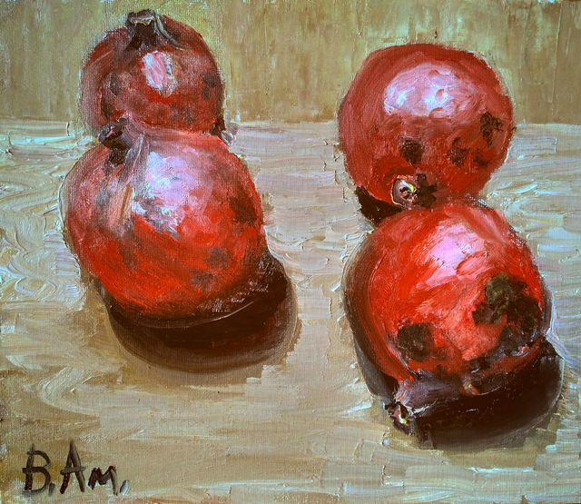 Vadim Amelichev  'Pomegranates From Baku', created in 2016, Original Painting Oil.