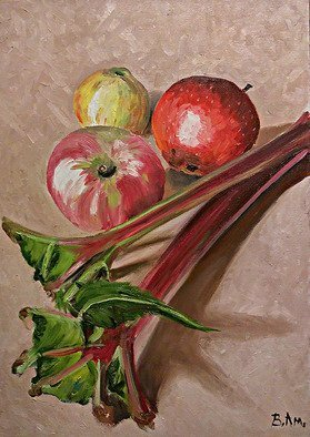 Vadim Amelichev Artwork rhubarb, 2017 Oil Painting, Still Life