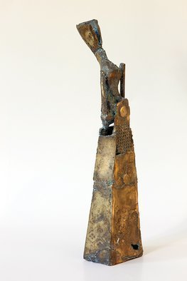 Rossen Stanoev Artwork Nefertiti, 1996 Bronze Sculpture, Abstract Figurative