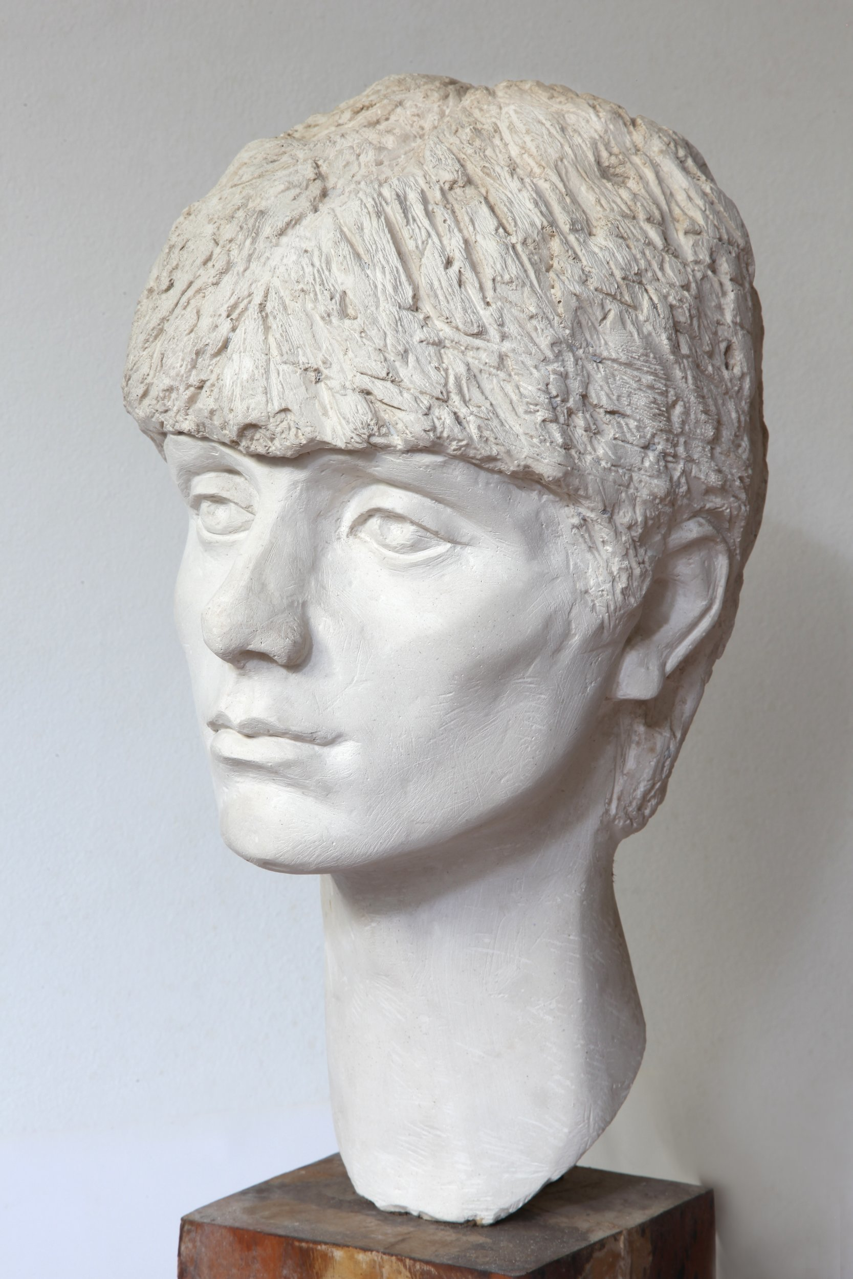 Rossen Stanoev: 'Vanya', 1982 Clay Sculpture, Portrait. Artist Description: gypsum, Rossen Stanoev, art, fine art, Bulgarian fine art, contemporary masters of art, contemporary art, masterpiece, art market, piece of art, artist, art dealer, gallery, online gallery, internet gallery, art gallery, buy art, art online, ...