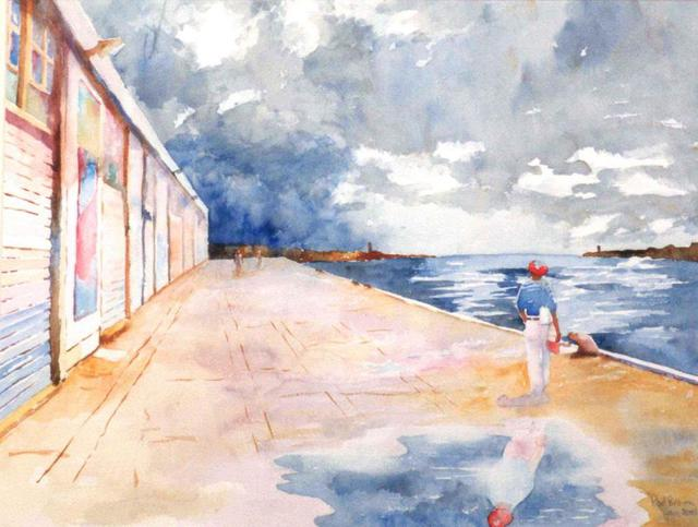 Roderick Brown  'After The Rain ', created in 2004, Original Watercolor.