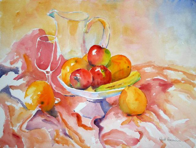 Roderick Brown  'Apples And Others', created in 2005, Original Watercolor.