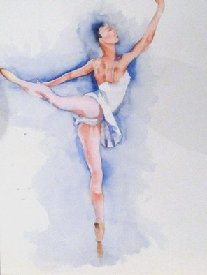 Roderick Brown Artwork Ballerina 1, 2008 Watercolor, Portrait